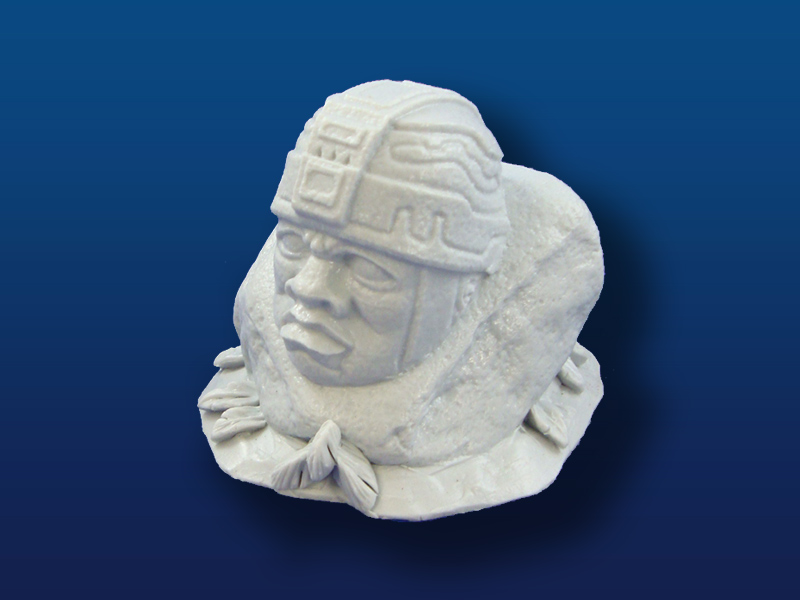 Olmec Head Carving on Rock