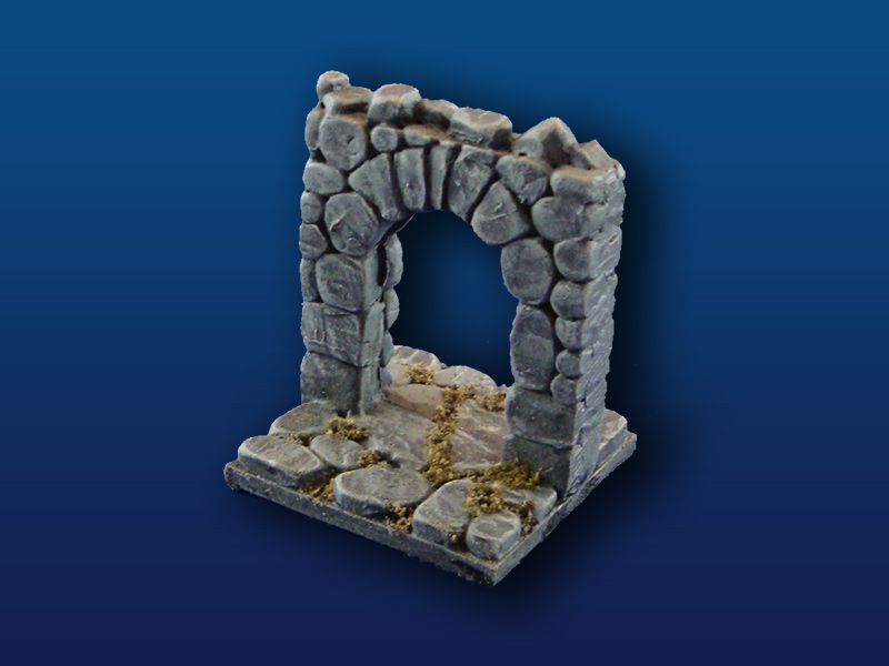 "2x2"" Rough Stone Tile w/ Open Doorway"