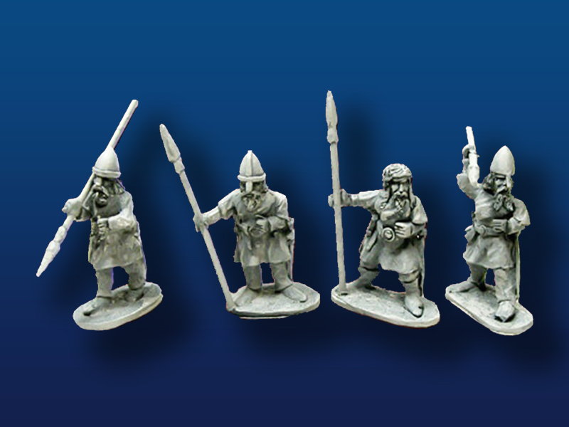 Viking Spearmen w/ Shields (4)