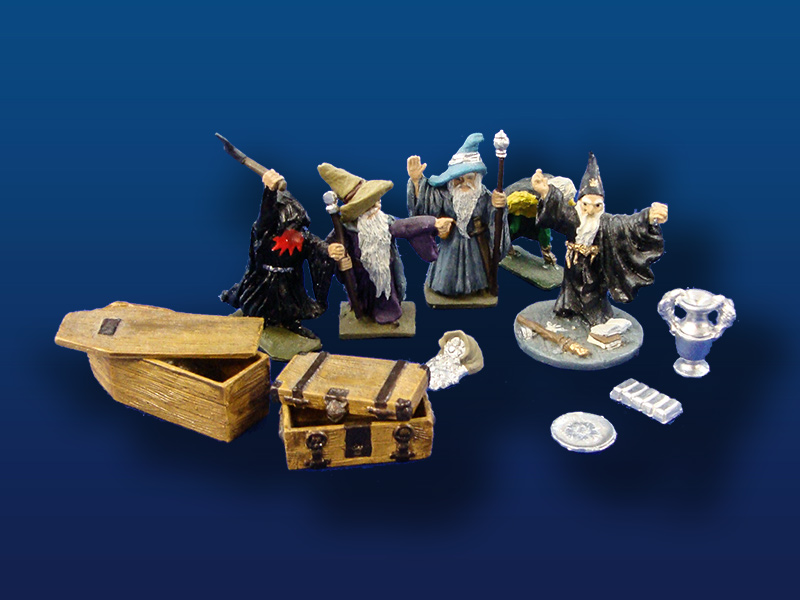 25mm  Ral Partha/Heritage   Wizards & Accessories  (11)