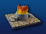 "4x4"" Rough Stone Tile w/ Large Sacrificial Fire Pit"