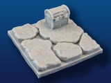 "2x2"" Rough Stone Tile w/ Treasure Chest"