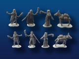 Female Adventurers w/ Mule miniatures 4-pack