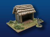 Wattle Shed w/ Thatched Roof